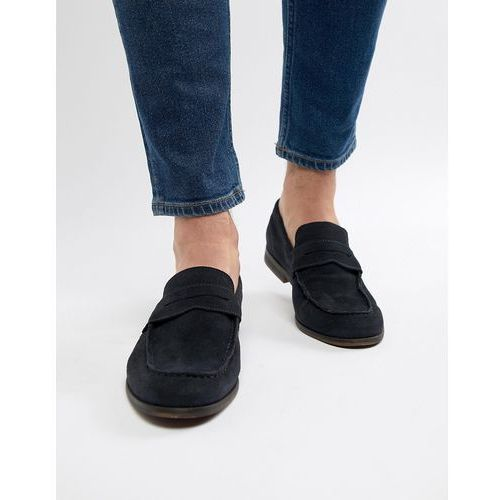 suede loafers in navy - navy marki Pier one