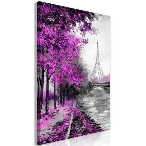 Obraz - paryski kanał (1-częściowy) pionowy różowy marki Artgeist
