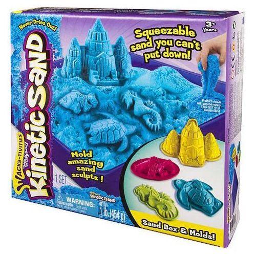 Spin master Kinetic sand - podwodny świat + foremki 454g nieb.