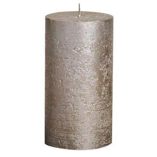 Bolsius Świeca pieńkowa rustic metallic szampańska wys. 13 cm (8717847042385)