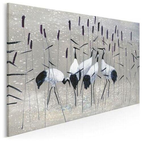 Żurawie nad rozlewiskiem - nowoczesny obraz na płótnie, 38201