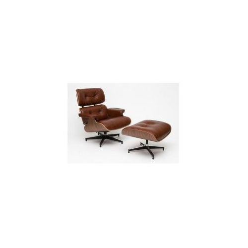 Fotel Vip z podnóżkiem brązowy/walnut, 82926