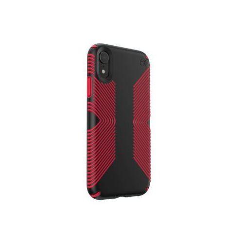 Etui SPECK Presidio Grip do iPhone XR czarno-czerwony (0848709058171)