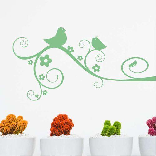 Szablon malarski ptaszki na gałęzi 2377 marki Wally - piękno dekoracji