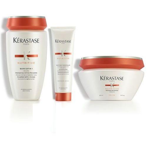 Kerastase nutritive | zestaw do włosów normalnych i suchych: kąpiel 250ml + maska 200ml + nektar termiczny 150ml marki Kérastase