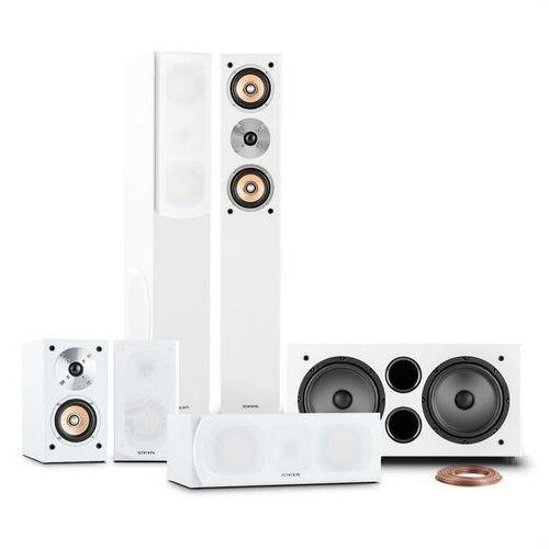 Auna linie-501-wh 5.1 system dźwiękowy kina domowego 600w rms biały