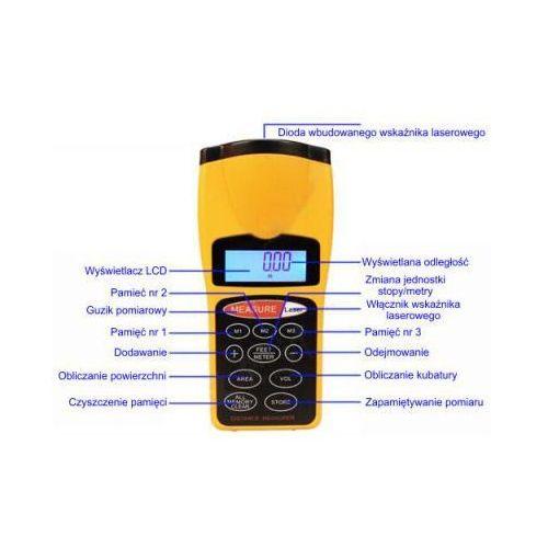 Dalmierz ultradźwiękowy/ laserowy cyfrowy miernik odległości. marki Sti ltd.