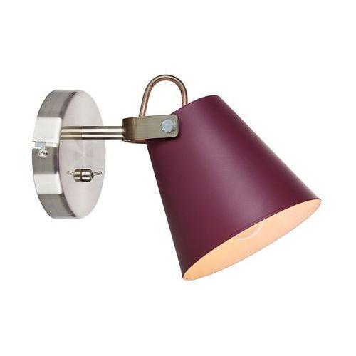 Markslojd Kinkiet lampa ścienna tribe 107397 reflektorowa oprawa regulowana burgundowa (7330024578357)