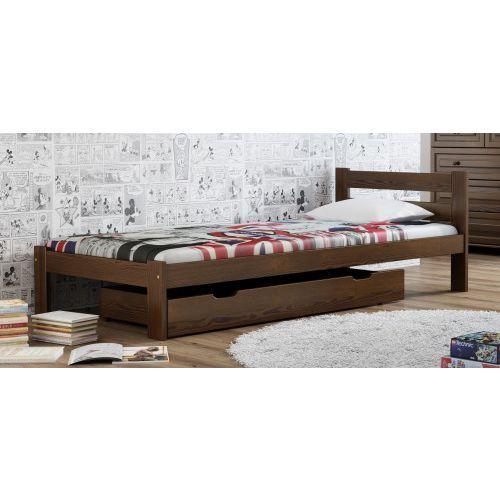 Meble Magnat łóżko Drewniane Mato 90x200 Eko Orzech Zimowe