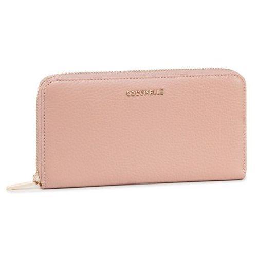 Duży portfel damski - fw5 metallic soft e2 fw5 11 04 01 pivoine p08 marki Coccinelle