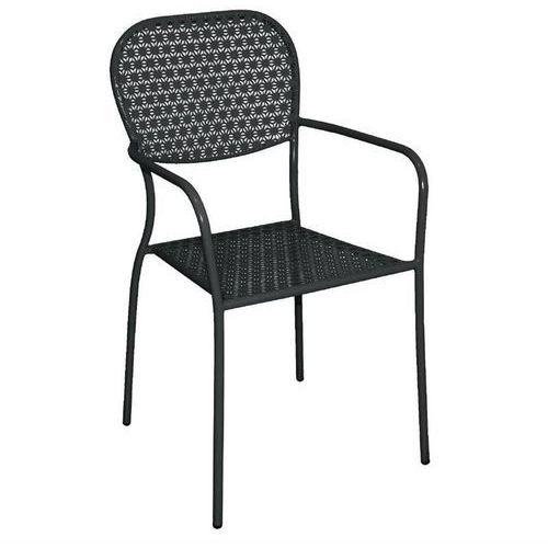 Krzesło ogrodowe czarne | 55x58x(H)95cm