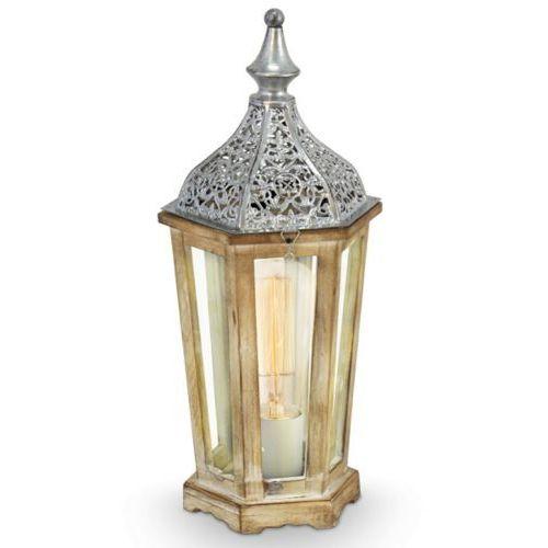 Eglo Lampa stojąca vintage kinghorn - 15,5 cm srebrna, 49277