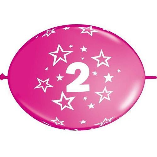 Go Girlanda balonowa z nadrukiem cyfra 2 - 300 cm - 1 kpl - 10 szt. balonów
