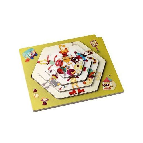 LILLIPUTIENS Puzzle warstwowe Cyrk, L86430