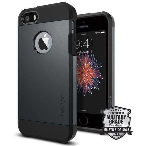 Sgp - spigen  tough armor grafitowy   pancerna obudowa dedykowana dla modelu apple iphone 5 / 5s / se - grafitowy (8809353617819)