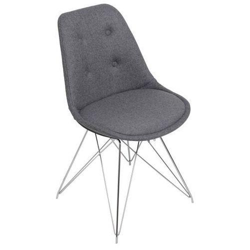 Domfan design Krzesło norden dsr pikowane szare