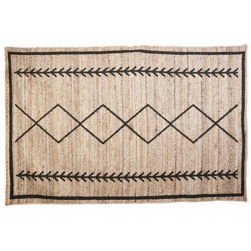 Vente-unique Dywan w stylu etnicznym bangalore - 100% juty - 160 x 230 cm - kolor naturalny i czarny