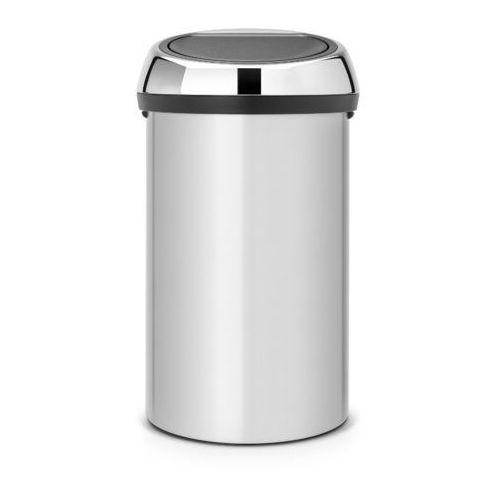 Brabantia - kosz 'touch bin' - pokrywa stal polerowana - 60l - szary metallic