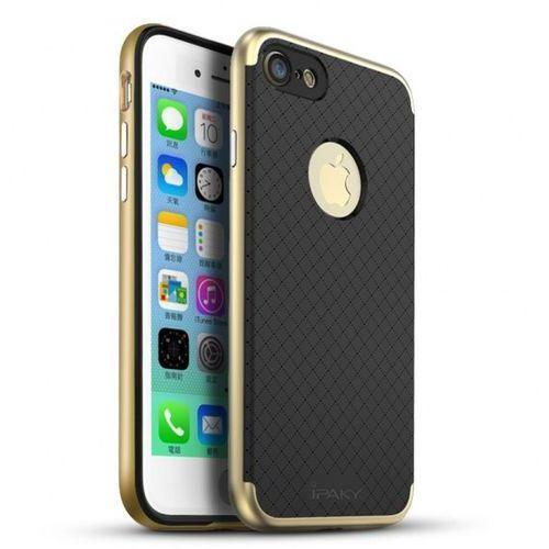 Ipaky Etui premium hybrid iphone 7 gold + szkło