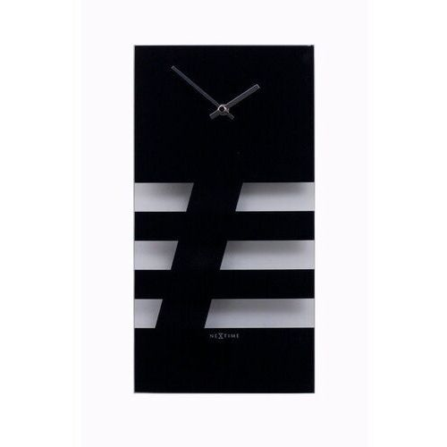 - zegar ścienny - bold stripes - czarny marki Nextime