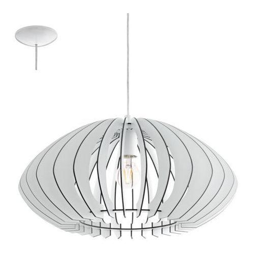 Eglo 95254 - Żyrandol COSSANO 2 1xE27/60W/230V, kolor biały