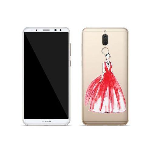 Huawei Mate 10 Lite - etui na telefon Crystal Design - Pastelowa czerwień