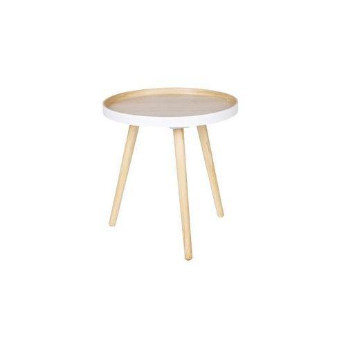 WOOOD:: Stolik kawowy Sasha drewniany Ø41cm - drewniany