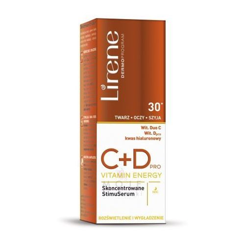 c+d pro vitamin energy skoncentrowane stimuserum do twarzy 30+ 30ml marki Lirene