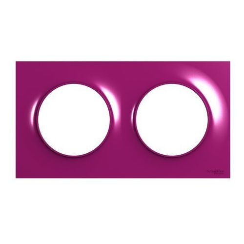Ramka podwójna Schneider Electric Odace fioletowa, kolor fioletowy