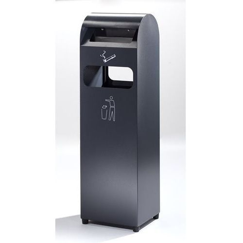 Popielniczka combi, poj. pojemnika na odpady 31,5 l, poj. popielniczki 3 l, wys.