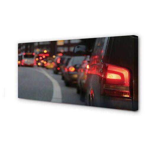 Tulup.pl Obrazy na płótnie auta korek światła ulica miasto