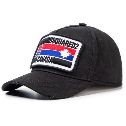Czapka z daszkiem - patch cargo baseball caps bcm0247 05c00001 2124 black marki Dsquared2