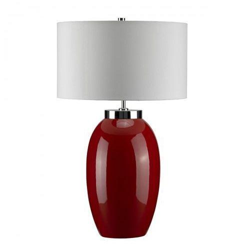 Victor Red Large Nocna Elstead VICTOR LRG/TL RD 70cm ceramika-czerwony-kremowy
