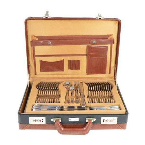 Komplet sztućców Legend Silver Hoffburg 72 elementy Wysoki połysk [HB-8700] (5902249480054)