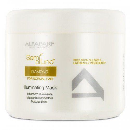 ALFAPARF Semi Di Lino Diamond, Maska rozświetlająca do włosów normalnych 500 ml