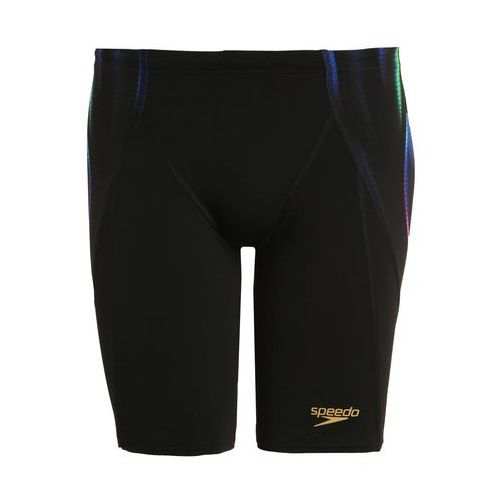 Speedo X PLACEMENT DIGITAL Kąpielówki black/fluo green/deep peri, kolor czarny
