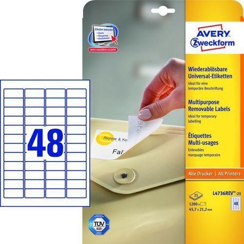 Etykiety uniwersalne Avery Zweckform L4736, 45,7x21,2mm