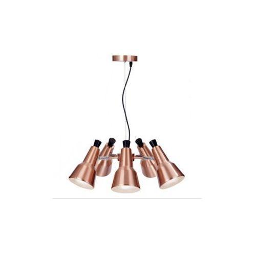 Light prestige Lampa wisząca auletta lp-507/5p metalowa oprawa industrialna zwis miedziany