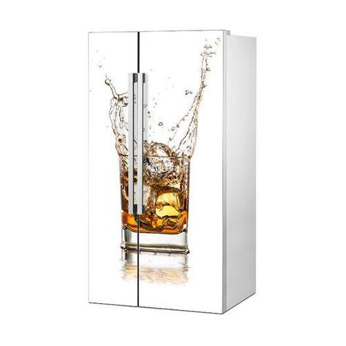 Stikero Mata magnetyczna na lodówkę side by side - whiskey na białym tle 0716