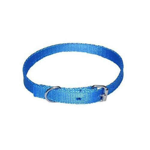 Chaba mocna taśmowa obroża dla psa gładka - obwód szyi 33cm-39cm - 33cm-39cm \ niebieski (5905133627467)