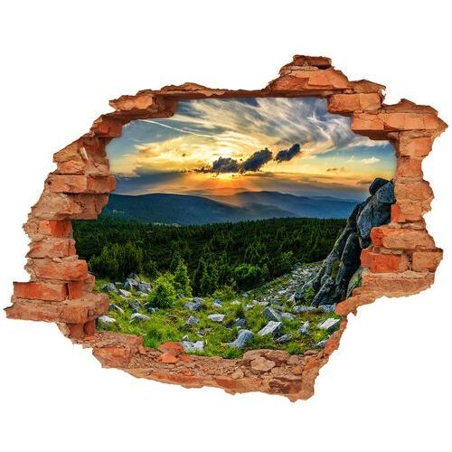 Wallmuralia.pl Dziura 3d w ścianie naklejka górska panorama