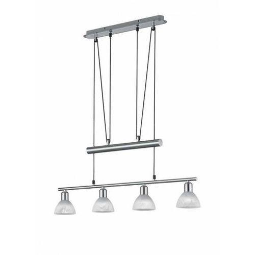 Trio LEVISTO lampa wisząca LED Nikiel matowy, 4-punktowe - Nowoczesny/Dworek - Obszar wewnętrzny - LEVISTO - Czas dostawy: od 3-6 dni roboczych, kolor Nikiel