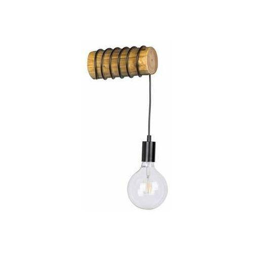 trabo short 6834151 kinkiet lampa ścienna 1x25w e27 drewno/czarny marki Spot light