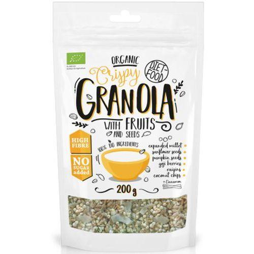 Granola z owocami bio 200g - marki Diet-food