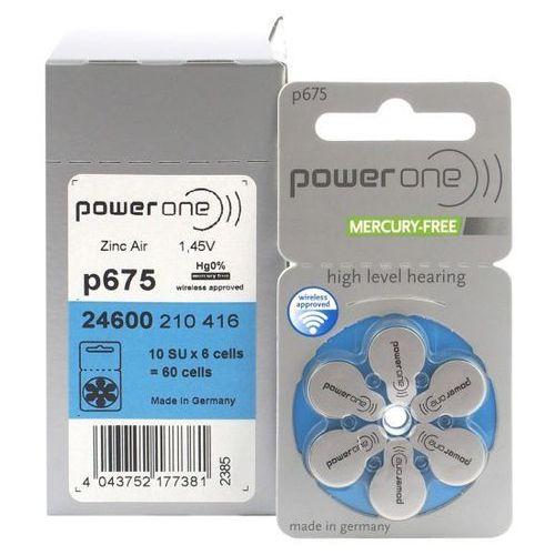 60 x baterie do aparatów słuchowych Power One Varta 675 MF