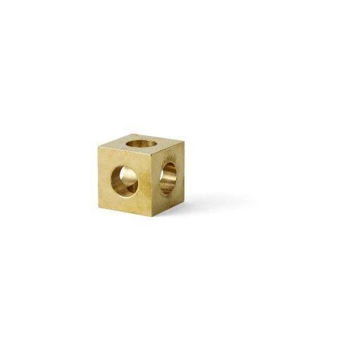 Cube świecznik na 1 świecę, mosiądz - Menu, 4762839