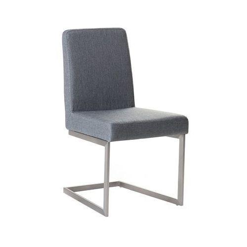 Krzesło do jadalni szare stal nierdzewna arctic marki Beliani