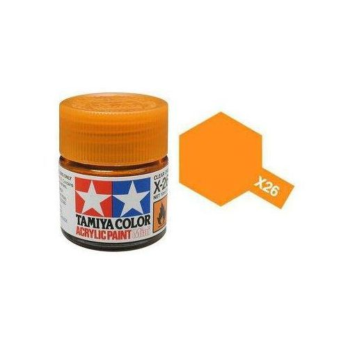 Farba akrylowa - X26 Clear Orange gloss / 10ml Tamiya 81526