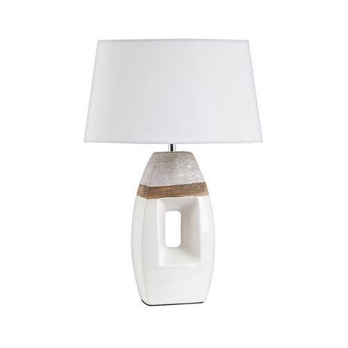 Lampa lampka stołowa Rabalux Leah 1x40W E27 brązowy/biały 4387, 4387