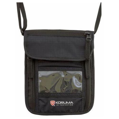 Koruma® Portfel paszportówka na szyję z zabezpieczniem rfid stop (czarny) (5902730820918)